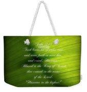 Palm Branch Weekender Tote Bag