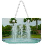 Palm Fountain Weekender Tote Bag