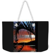 Palm Framed Sunset Weekender Tote Bag
