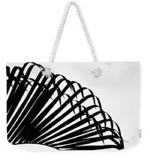 Palm Frond Black And White Weekender Tote Bag