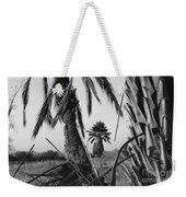 Palm In View Bw Horizontal Weekender Tote Bag