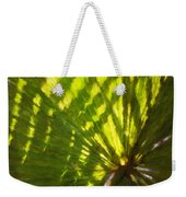 Palm Leaves And Morning Light Weekender Tote Bag