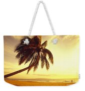 Palm Over The Beach Weekender Tote Bag
