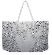 Palm Print On Wet Metal Surface Weekender Tote Bag