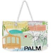 Palm Springs Cityscape- Art By Linda Woods Weekender Tote Bag by Linda Woods