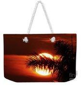 Palm Sunset Weekender Tote Bag