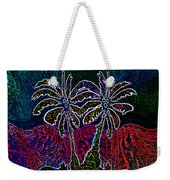 Palm Tree Abstraction Weekender Tote Bag