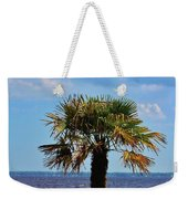 Palm Tree By The Lake Weekender Tote Bag