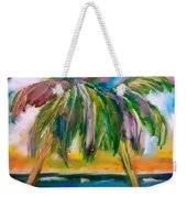 Palm Tree Color Times Two Weekender Tote Bag