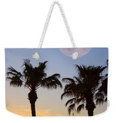 Palm Tree Full Moon Sunset Weekender Tote Bag