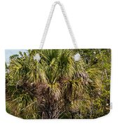 Palm Tree In Golden Grass Weekender Tote Bag