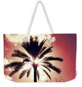 Palm Tree In The Sun Weekender Tote Bag