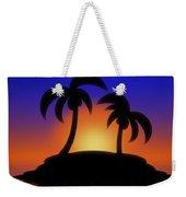Palm Tree Island Weekender Tote Bag