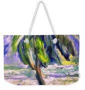 Palm Tree On Windy Beach Weekender Tote Bag
