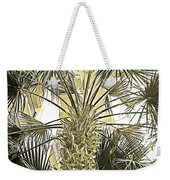 Palm Tree Pen And Ink Grayscale With Sepia Tones Weekender Tote Bag