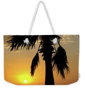 Palm Tree Sunset Weekender Tote Bag