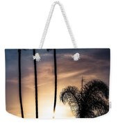 Palm Tree Sunset Silhouette Weekender Tote Bag