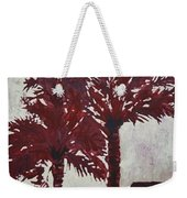Palm Trees Acrylic Modern Art Painting Weekender Tote Bag
