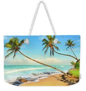 Palm Trees Over The Sea Weekender Tote Bag