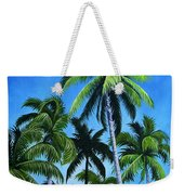 Palm Trees Under A Blue Sky Weekender Tote Bag