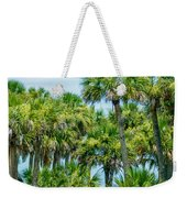 Palmetto Palm Trees In Sub Tropical Climate Of Usa Weekender Tote Bag