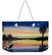 Palmetto Tree And Moon Low Country Sunset Weekender Tote Bag