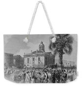 Palmetto Tree And Old Custom House Weekender Tote Bag