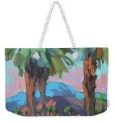 Palms And Coral Mountain Weekender Tote Bag