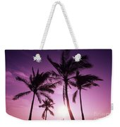 Palms And Pink Sunset Weekender Tote Bag