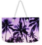 Palms And Purple Sky Weekender Tote Bag