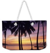 Palms And Sunset Sky Weekender Tote Bag