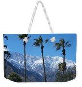 Palms With Snow Weekender Tote Bag