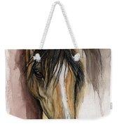 Palomino Arabian Horse Watercolor Portrait Weekender Tote Bag