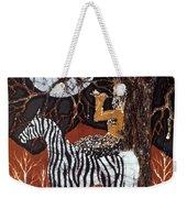 Pan Calls The Moon From Zebra Weekender Tote Bag