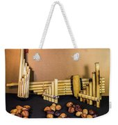 Pan Flutes And Buckeyes Weekender Tote Bag