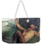 Pan Whistling At A Blackbird 1863 Weekender Tote Bag