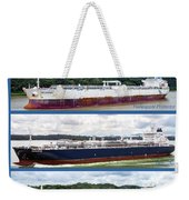 Panama Canal Cargo Ships Weekender Tote Bag
