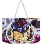 Pancakes With Chocolate Sauce Weekender Tote Bag