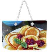 Pancakes With Cranberry Jam Weekender Tote Bag
