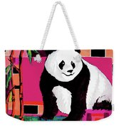 Panda Abstrack Color Vision  Weekender Tote Bag