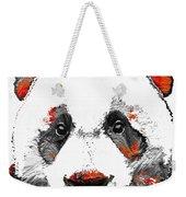 Panda Bear Art - Black White Red - By Sharon Cummings Weekender Tote Bag