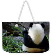 Panda Bear Eating Bamboo Weekender Tote Bag