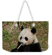 Panda Bear Eating Bamboo Shoots Up Close And Personal Weekender Tote Bag