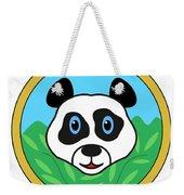 Panda Bear Head Weekender Tote Bag