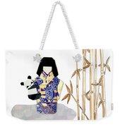 Panda Girl By Mary Ellen Palmeri Weekender Tote Bag