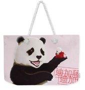Panda Joy Pink Weekender Tote Bag