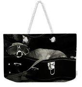 Panhandling Dog Weekender Tote Bag by Julie Niemela