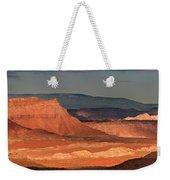 Panorama Dawn Light On The San Rafael Swell Utah Weekender Tote Bag