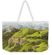 Panorama Drawn From The Rigi Mountain Weekender Tote Bag