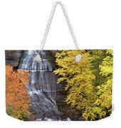 Panorama Fall Color Chapel Falls Upper Penninsula Mi Weekender Tote Bag